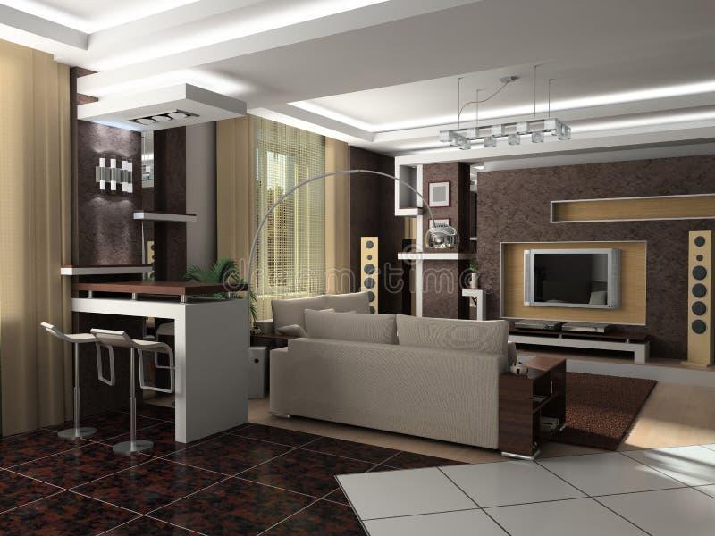 Modern binnenland stock afbeeldingen