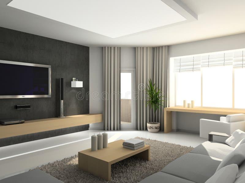 Modern binnenland. stock afbeeldingen