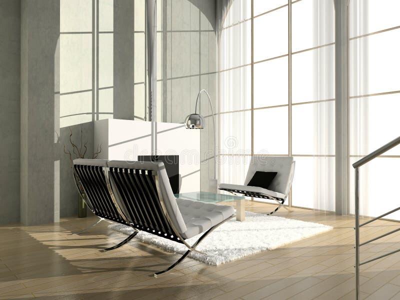 Modern binnenland. vector illustratie