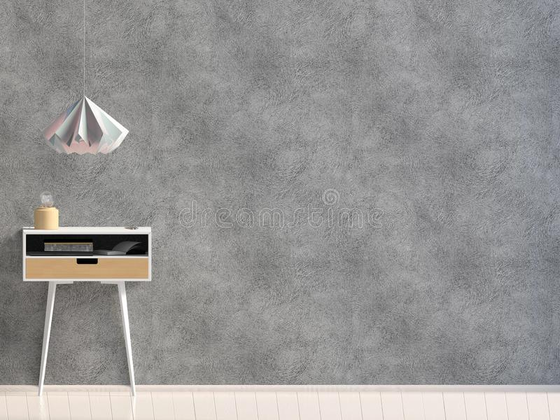 Modern binnenland met koffietafel muurspot omhoog royalty-vrije illustratie