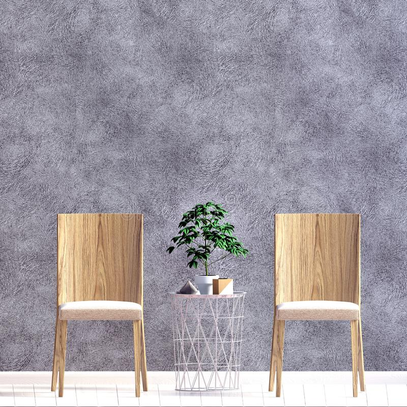 Modern binnenland met stoel muurspot omhoog stock illustratie