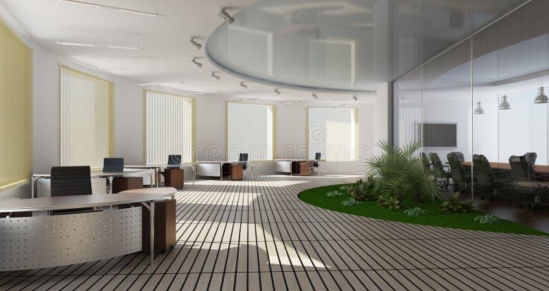 Modern binnenland van bureau vector illustratie