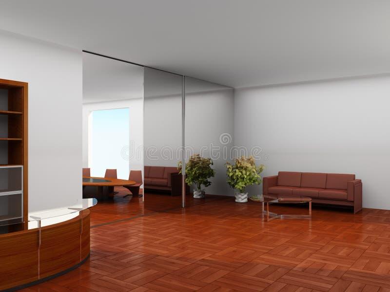 Modern binnenland van een bureau vector illustratie