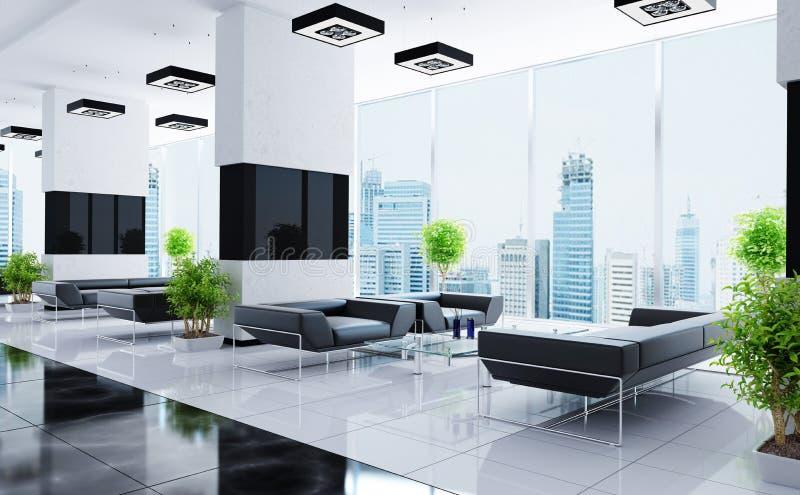 Modern binnenland van een zaal stock illustratie