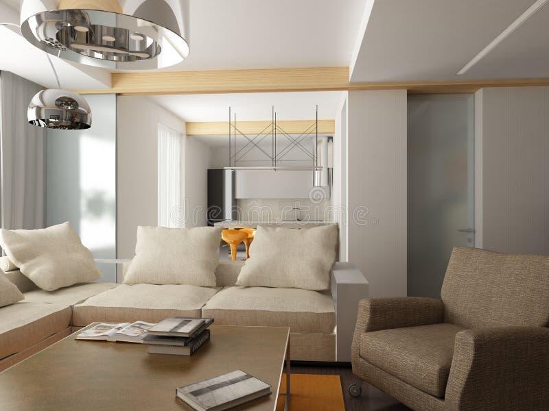 Modern binnenlands ontwerp stock illustratie