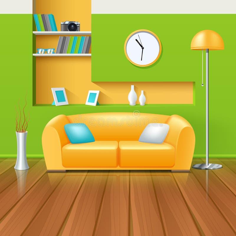 Modern Binnenlands ontwerp royalty-vrije illustratie