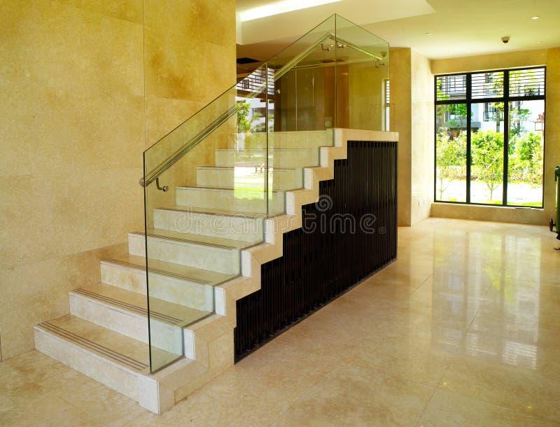 Modern binnenlands ontwerp - Trap royalty-vrije stock afbeelding