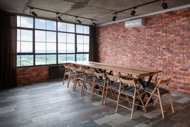 Modern binnenlands ontwerp van conferentieruimte royalty-vrije stock fotografie