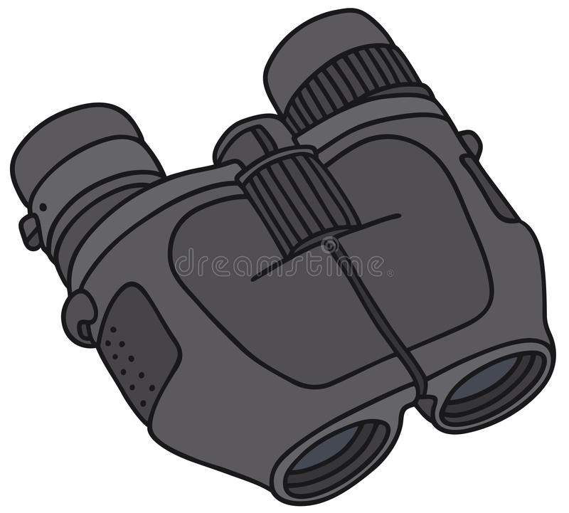 Modern binoculars stock illustration