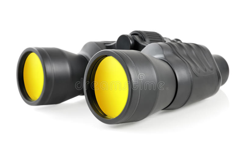 Download Modern binoculars on white stock photo. Image of glass - 23158392