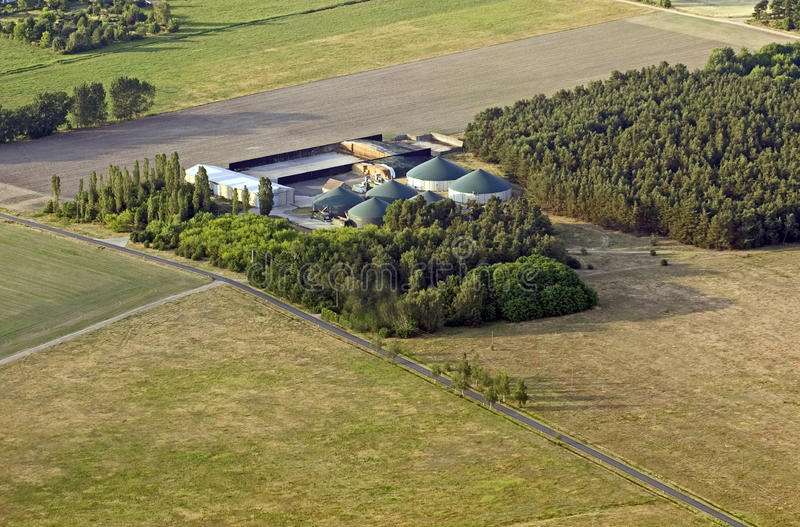 Modern biogas plant stock images