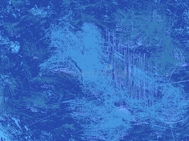 Modern blåtttextur för Grunge, cerulean abstrastdiagrambakgrund royaltyfri illustrationer