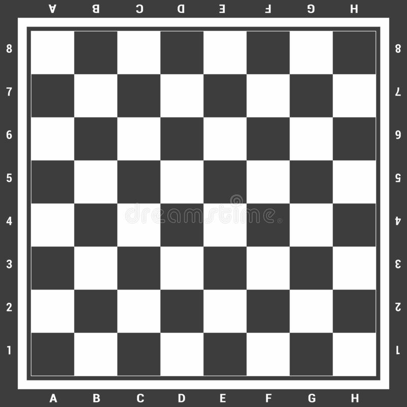 Modern black chess board with letters and numbers background design vector illustration royalty free illustration
