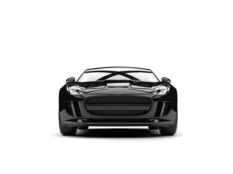 Modern black concept sports car - front view royalty free illustration