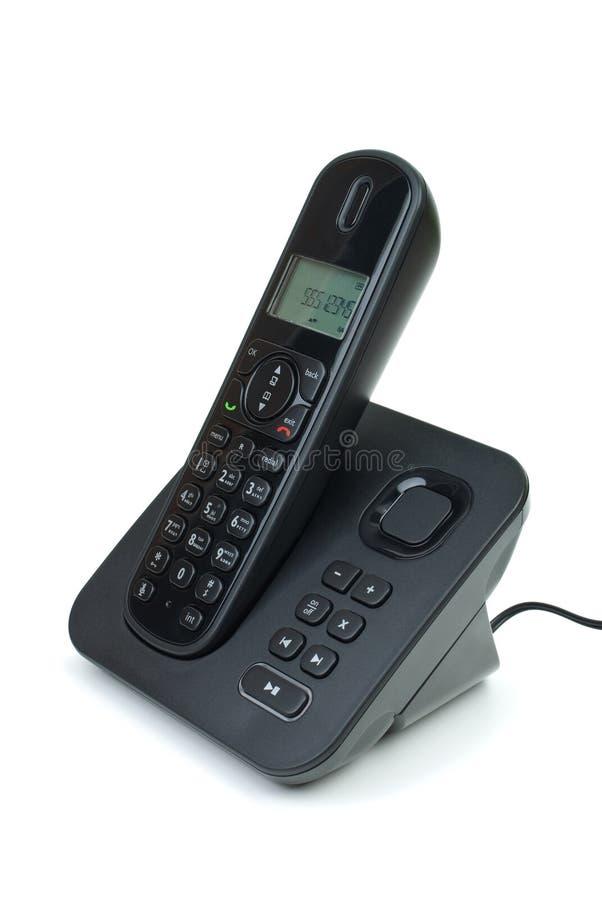 Modern black cordless phone stock images