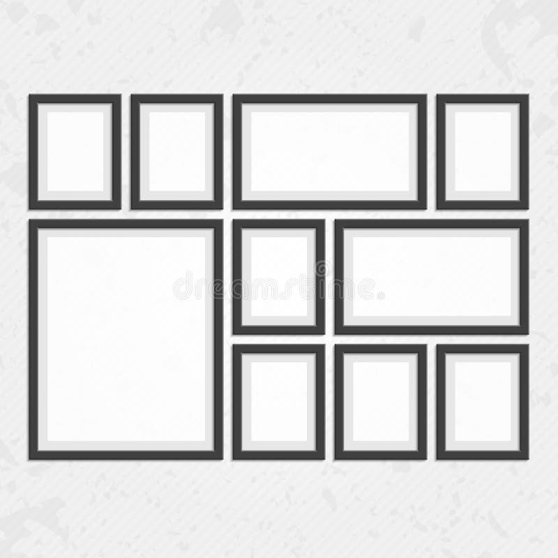 Modern black frames set stock vector. Illustration of gallery - 75676797