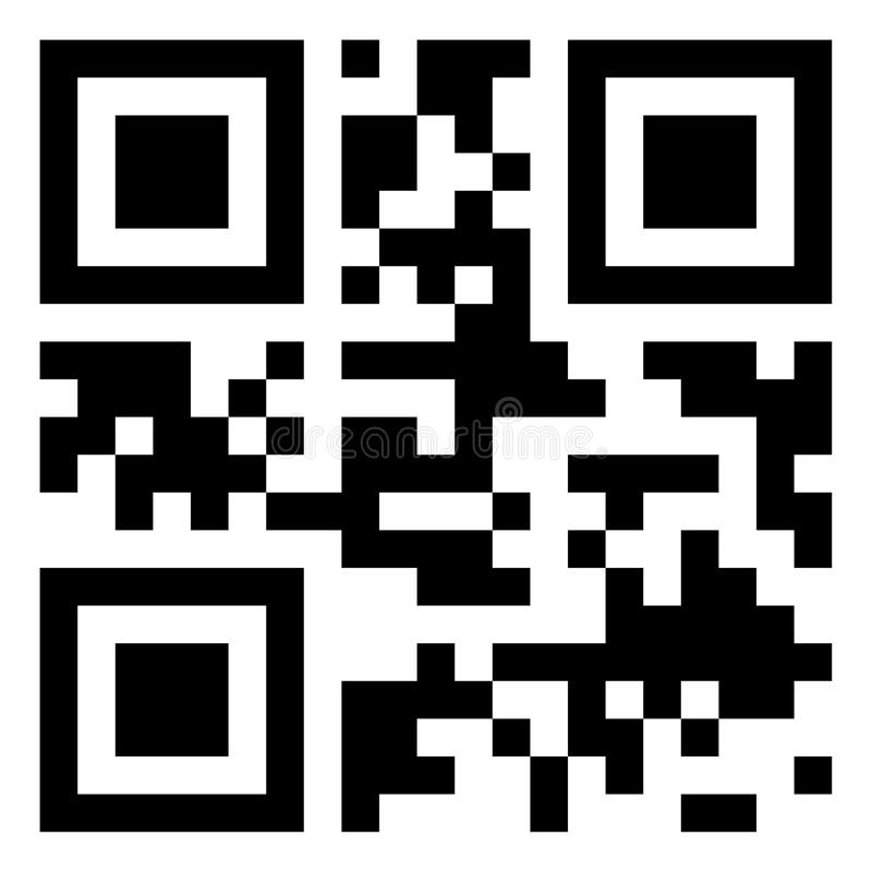 Modern QR code royalty free stock images