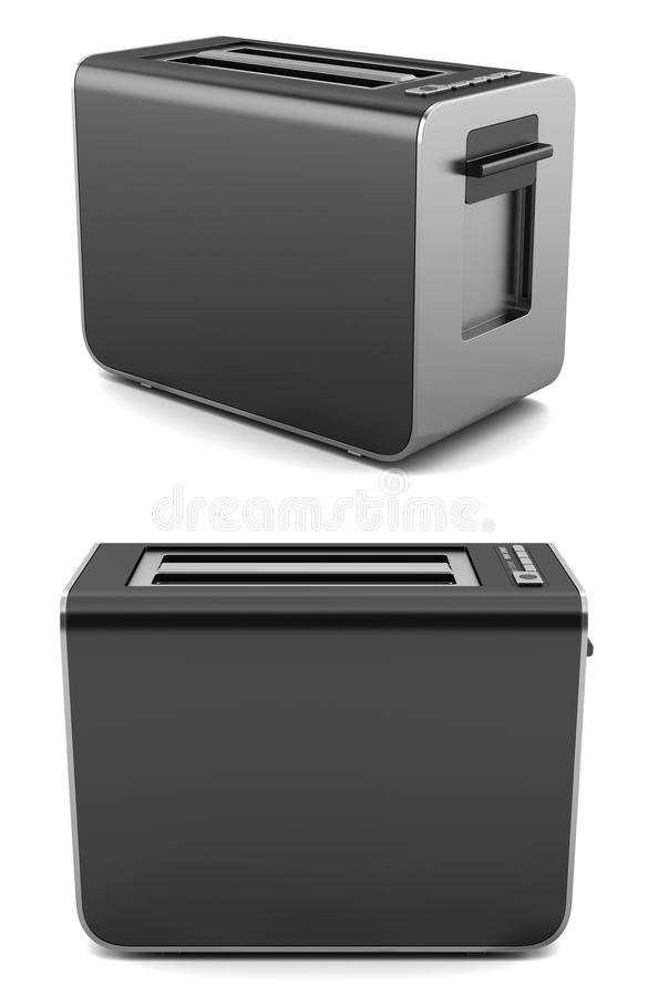 Download Modern Black Toaster Isolated On White Stock Illustration - Image: 19628345