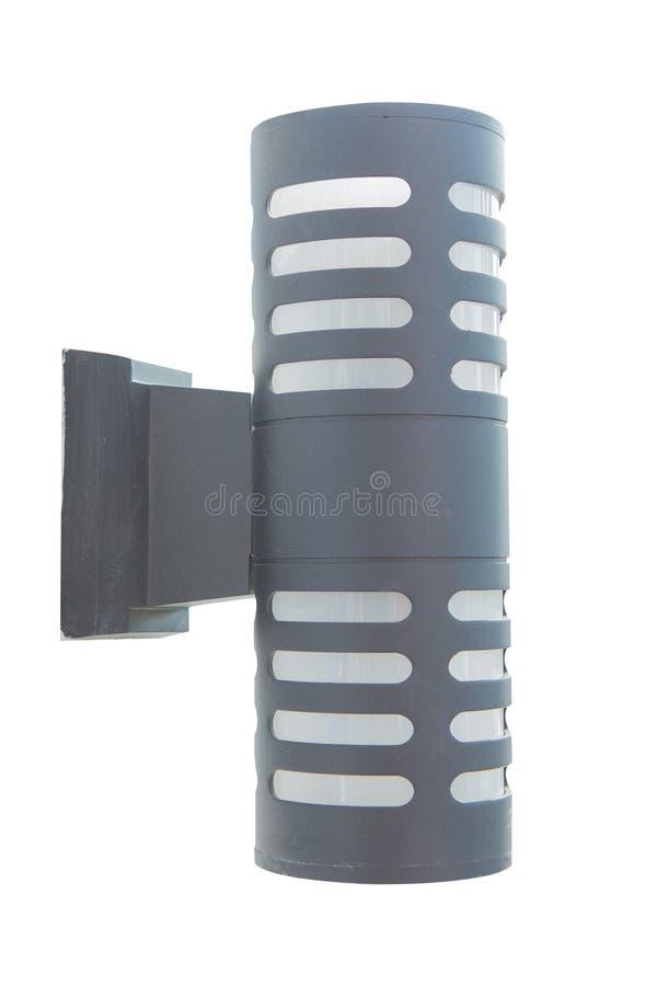 Modern black wall lamp stock photos