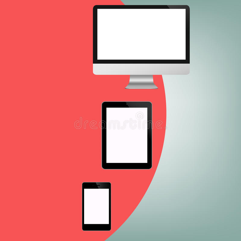 Modern blank background with Computer Technology S royalty free illustration
