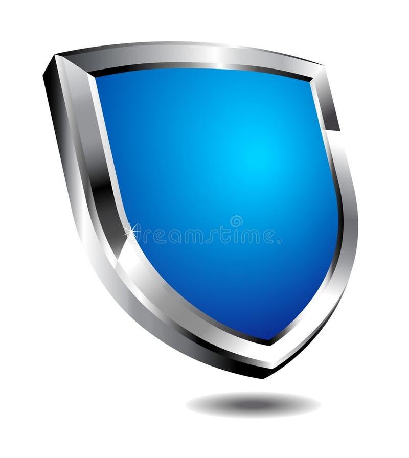 Modern Blauw Schild vector illustratie