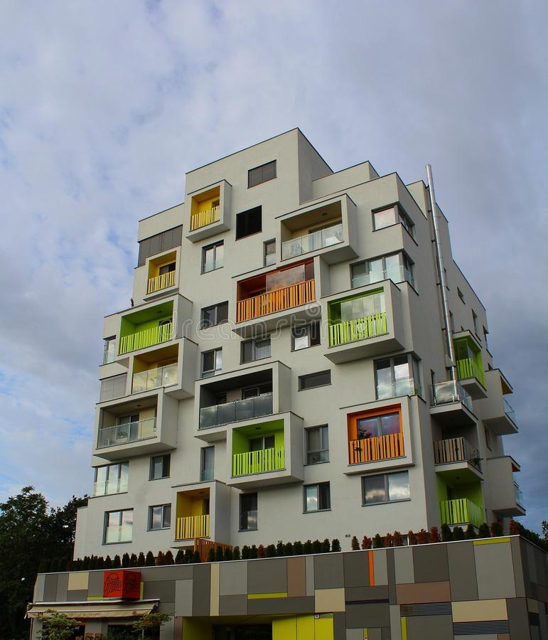 Modern Block of Flats in Bratislava, Slovakia royalty free stock image