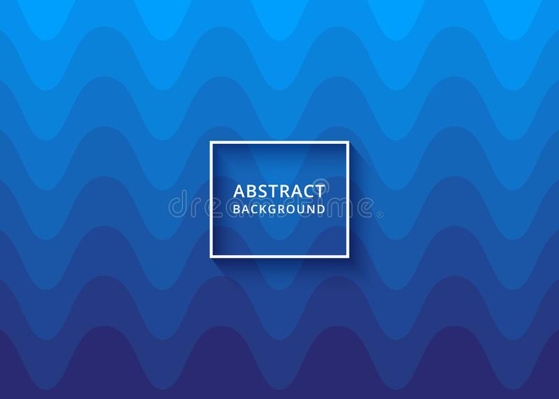 Modern blue abstract wavy background. Background, backdrop or invitation card abstract design. Wavy Background stock illustration