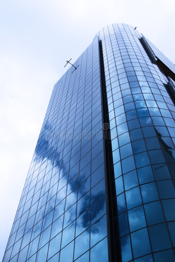 Modern blue architecture royalty free stock image