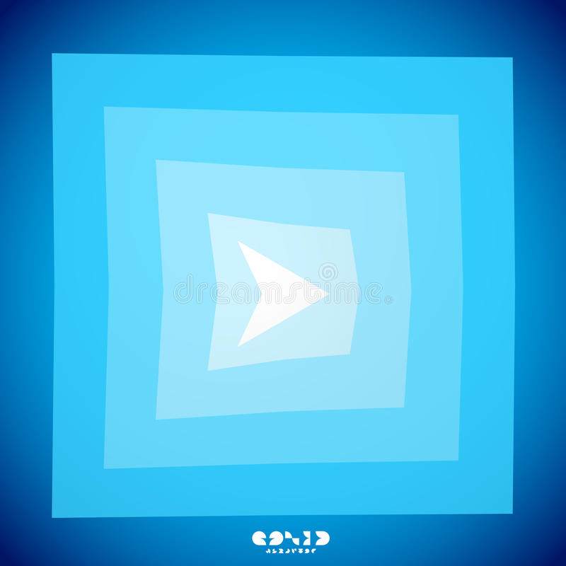 Modern blue arrow creative clean background. This is file of EPS10 format vector illustration