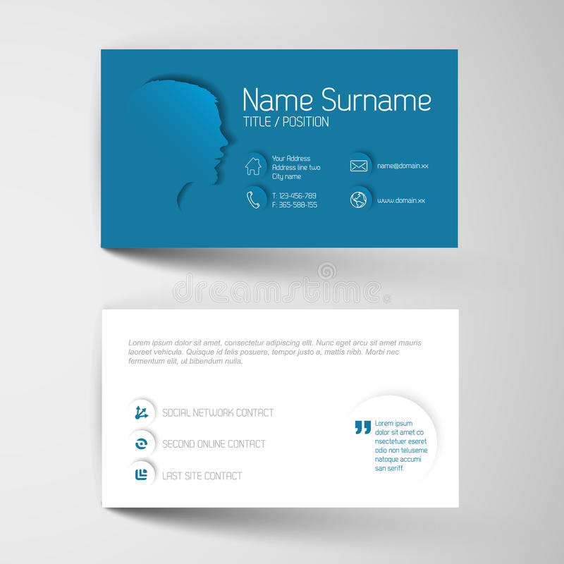 Modern blue business card template with flat user interface stock download modern blue business card template with flat user interface stock vector illustration of business fbccfo Choice Image