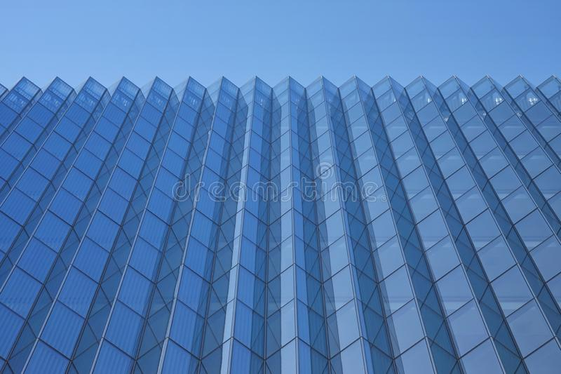 Modern Blue Glass Office Building Exterior royalty free stock photos