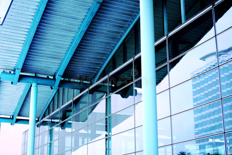 Download Modern Blue Glass Wall Of Skyscraper Stock Image - Image: 16410385