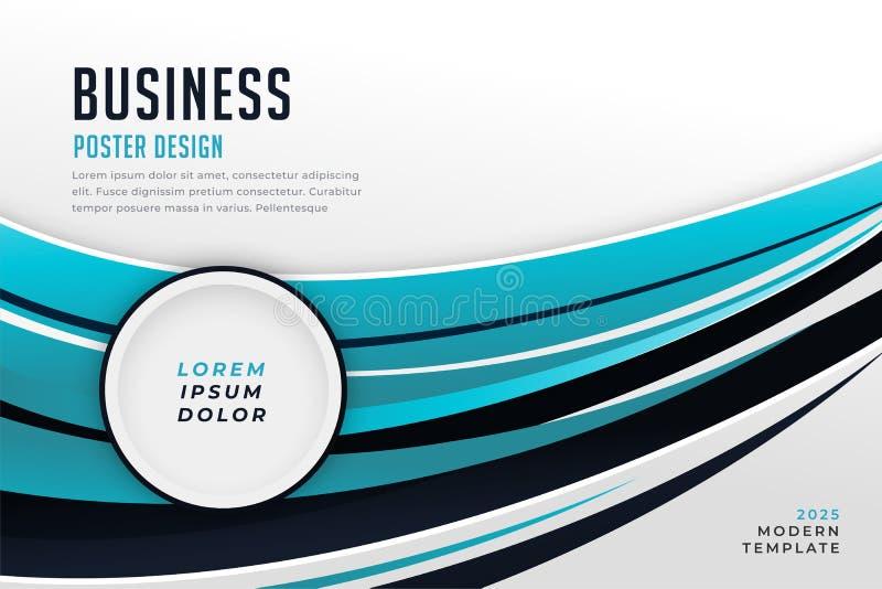 Modern blue professional presentation business template design stock illustration