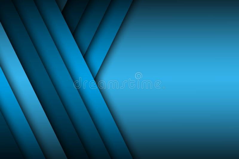 Modern blue vector background overlap paper with blank space royalty free illustration