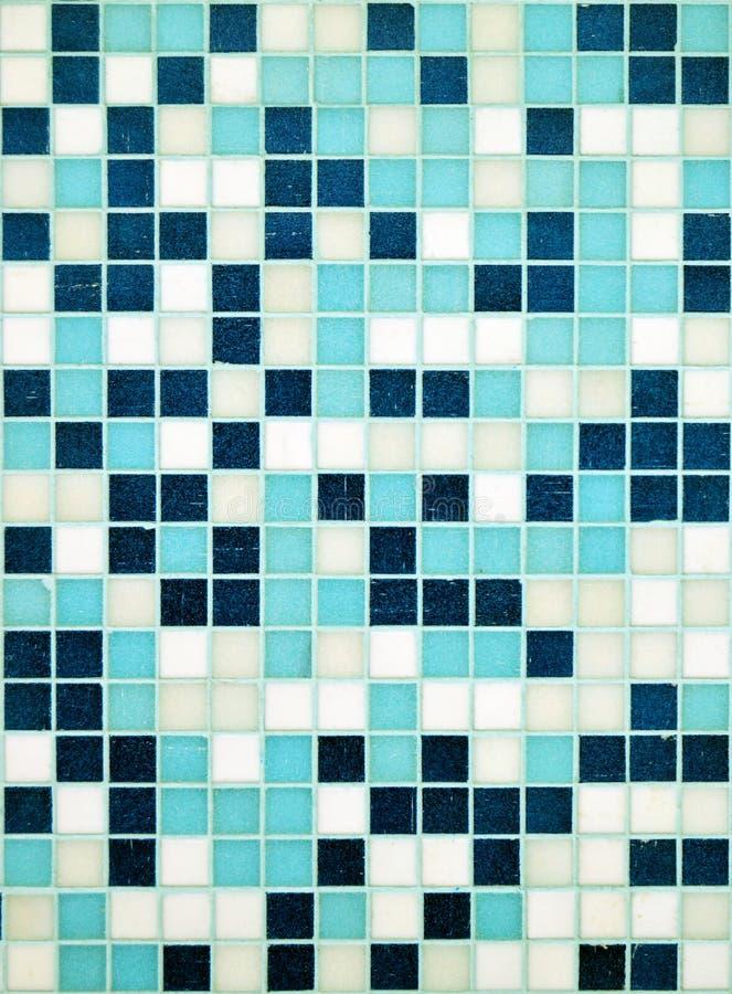 Modern blue and white stoneware `gresite` background. Squares geometric mosaic decorative fashion trend in architecture stock image