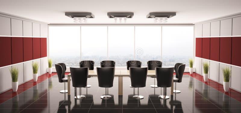 Modern boardroom interior 3d royalty free illustration