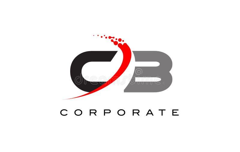 Modern bokstav Logo Design för PR-band med Swoosh royaltyfri illustrationer