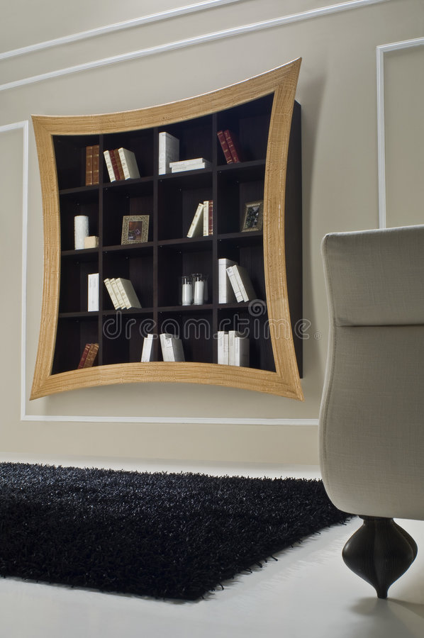 Download Modern book shelve stock image. Image of chair, estate - 6994659