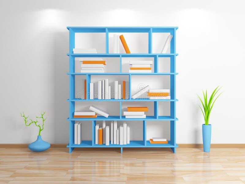 Modern bookshelf. stock illustration