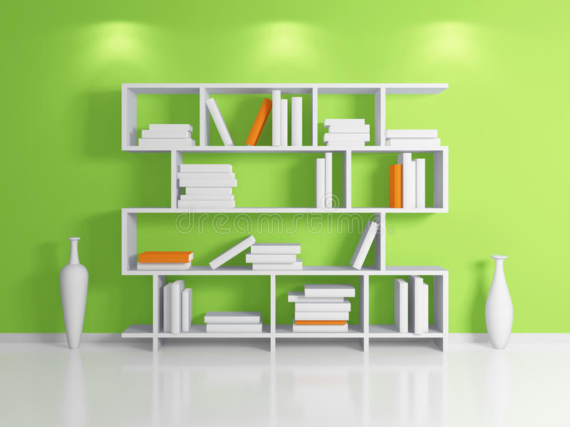 Download Modern bookshelf. stock illustration. Image of clay, living - 25121180