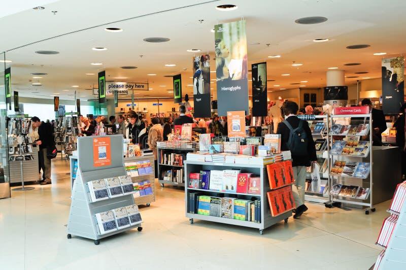 A modern bookshop stock image
