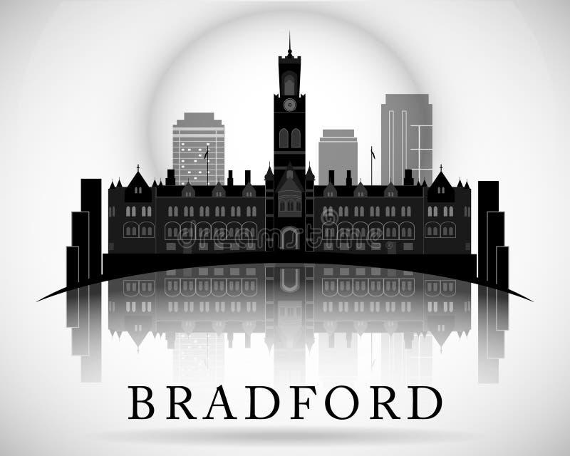 Modern Bradford City Skyline Design. England. Modern Bradford City Skyline Design vector illustration