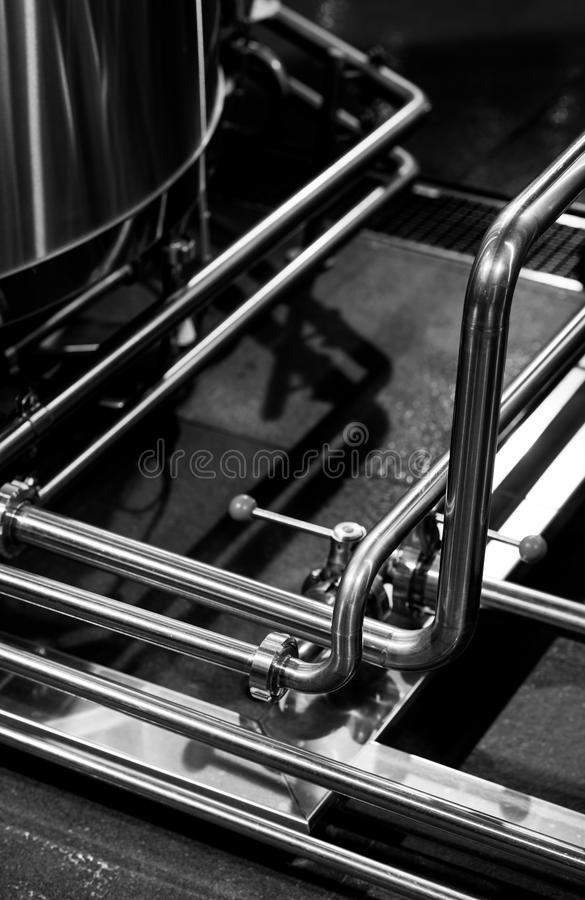Modern brewery equipment royalty free stock images