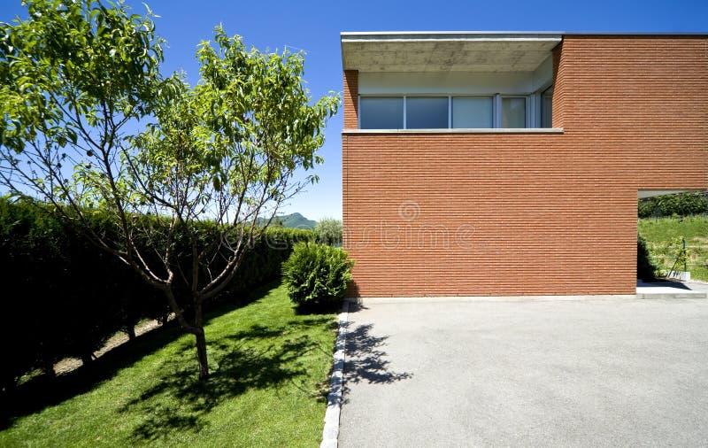 Download Modern brick house stock photo. Image of flooring, garden - 12037512