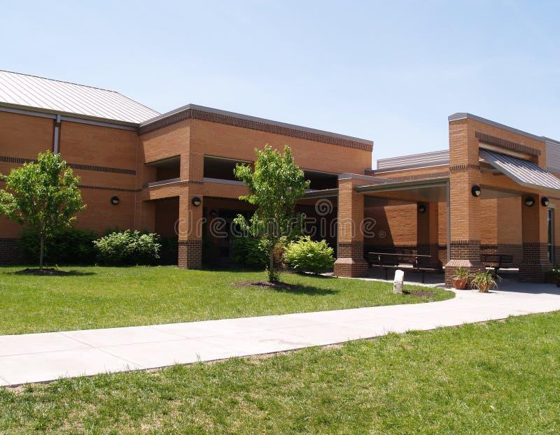modern brick school royalty free stock image