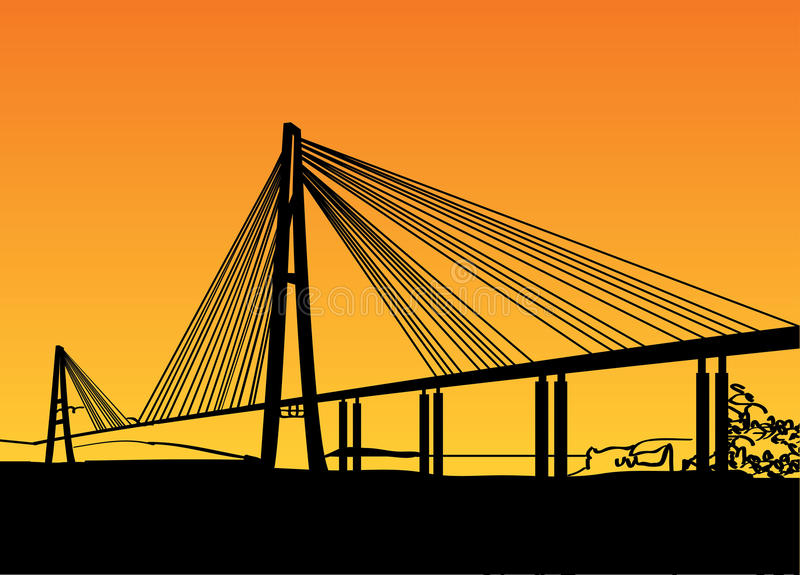 Download Modern bridge stock vector. Illustration of landmark - 26067760