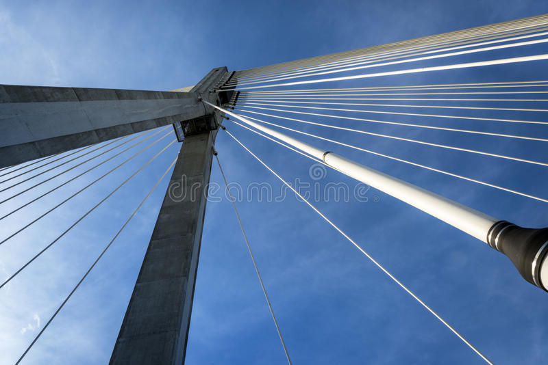 Modern bridge abstract architecture stock images