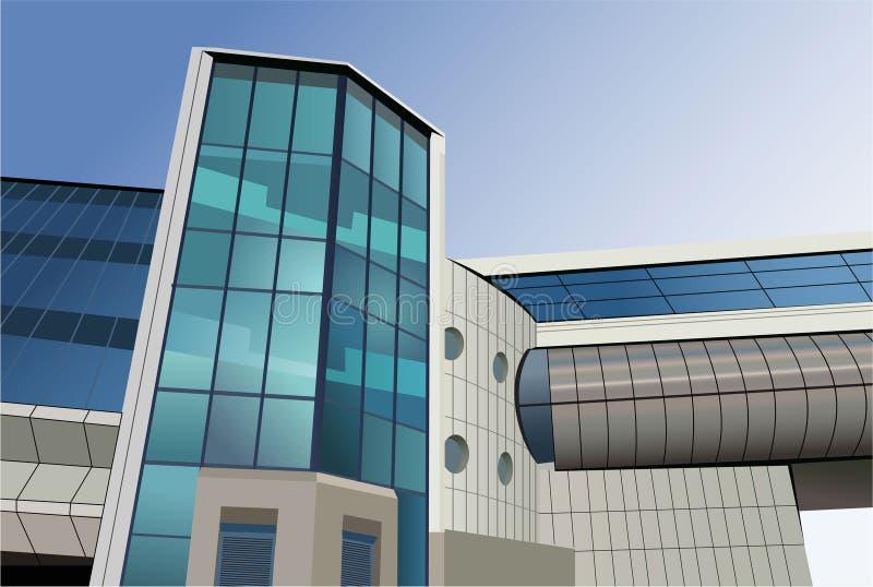 Download Modern Bridge Building Vector Stock Vector - Image: 10390728