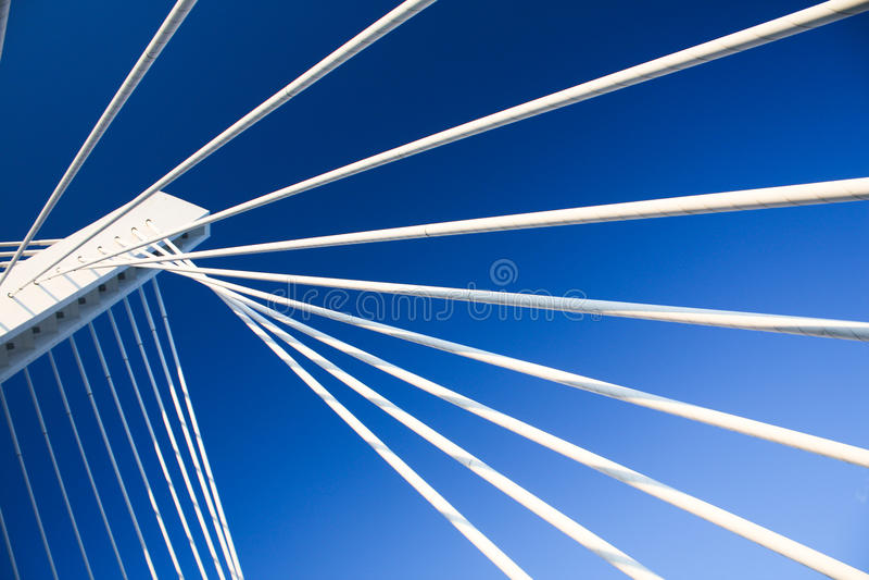 Modern bridge construction stock photography