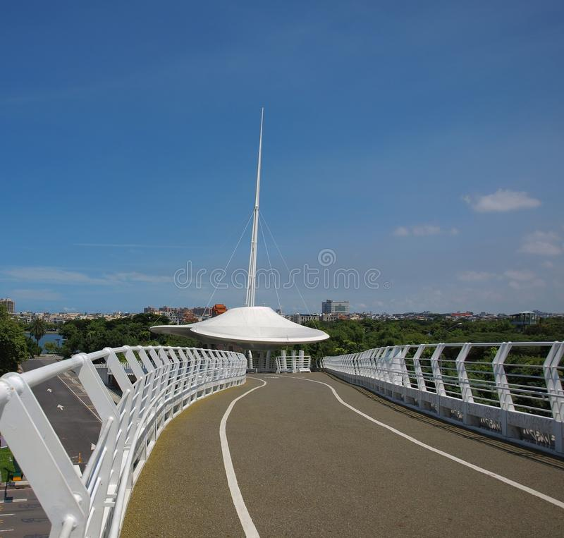 Download Modern Bridge for Cyclists stock image. Image of view - 26099041